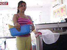 Big Booty Latin Maid Gives Full Service Pussy Fucking