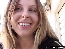 POVLife natural tits girlfriend POV fucked outdoors