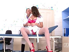 Sexy Nurse Sensual Jane gets her pussy pounded in the Clinic