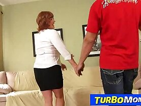 Old with her young sex with horny cougar Sarah