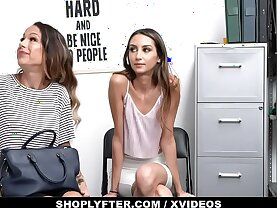 ShopLyfter Huge Tits Milf and Hot Daughter Give Head To Avoid Jailtime