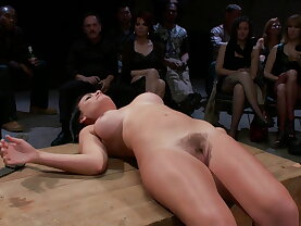 Bruntte babe gets humiliated in public