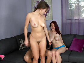 Two natural titted babes Lily\'s and Jessica