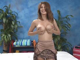 Karina stripping before doing massage